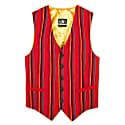 Red 'Mara' Striped Waistcoat image