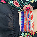 Handwoven Single Bracelet In Purple And Blue image