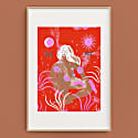 Shakti Female Goddess Screenprint Large image