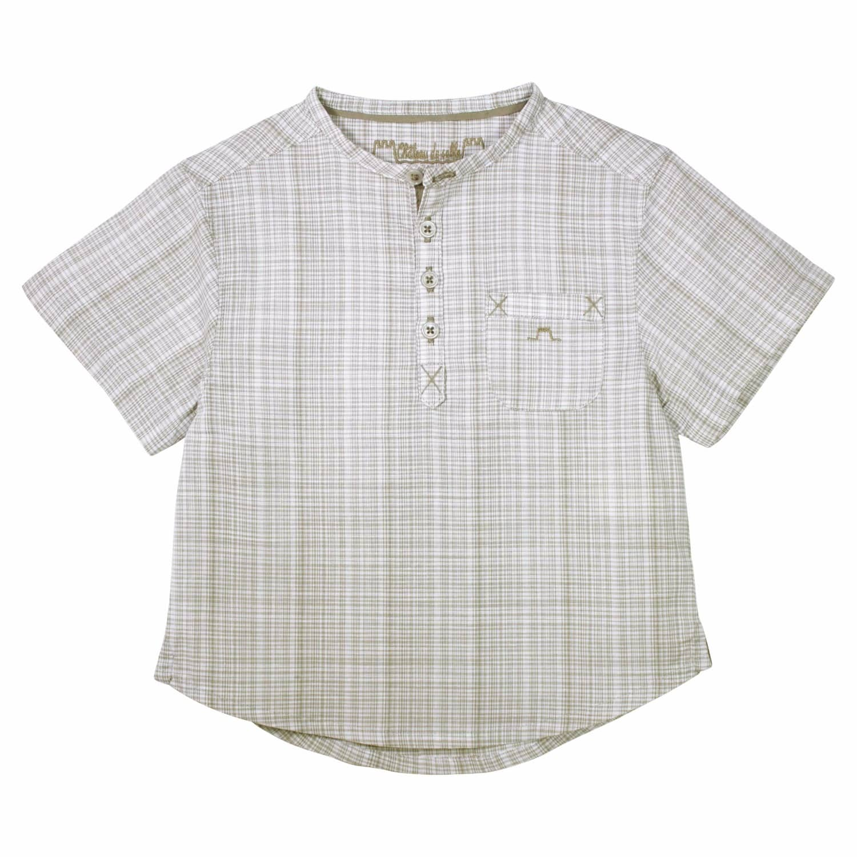 475cafac5f2 French Designer Preppy Shirt Brown (2 Yrs)