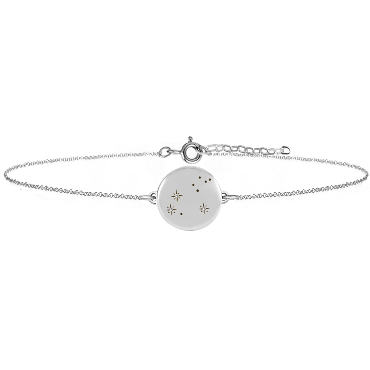 No 13 - Leo Zodiac Constellation Bracelet Diamonds & Silver