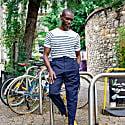 Knitted Breton Tee White image
