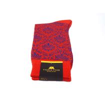 TYLER & TYLER Ambrose Red & Blue Socks