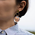 Dangling Blue Earrings image