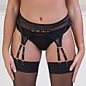 Theodora Midnight Suspender Belt image