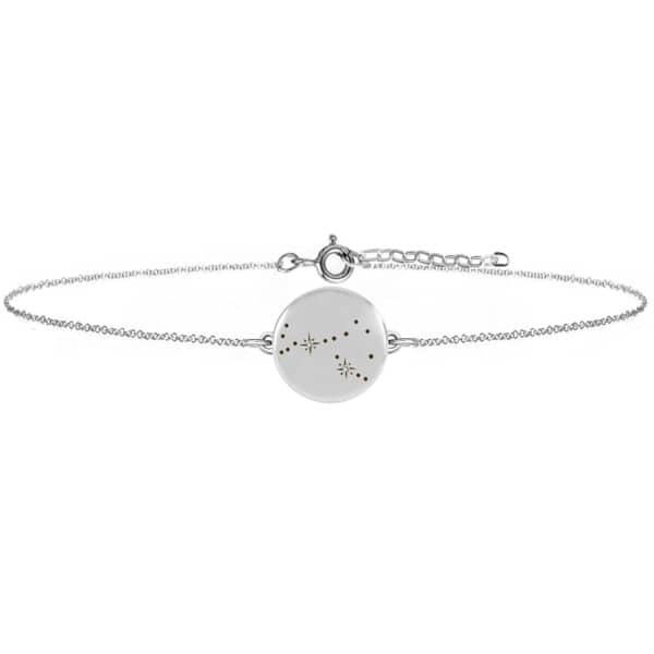 NO 13 Scorpio Zodiac Constellation Bracelet Diamonds & Silver
