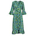 Felicity Dress- Turquoise & Lime image