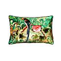 Bird and Rose Velvet Cushion image
