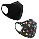 2 Pack Washable Face-Mask - Black Stars image