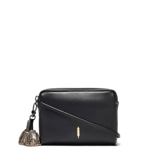 THACKER NEW YORK Pompom Bag In Black & Gunmetal