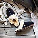 Classic Women's Navy Sheepskin Slippers image