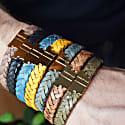 Olive Green Leather Bracelet Serac Bracelet image