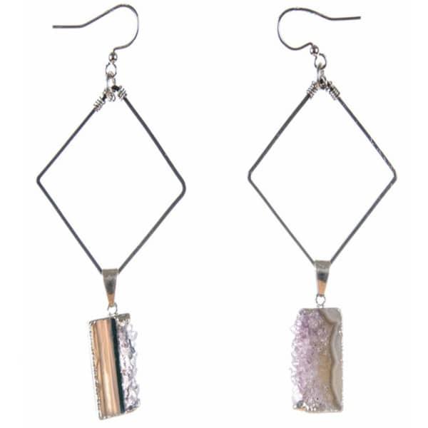 TIANA JEWEL Isadore Silver Earrings Sari Collection