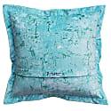 Abstract Blue Velvet Cushion image