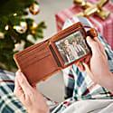Vida Tan Leather Tri Fold Wallet With Rfid image