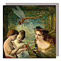 Set Of Five Greeting Cards With Envelopes featuring Angels Whispering image