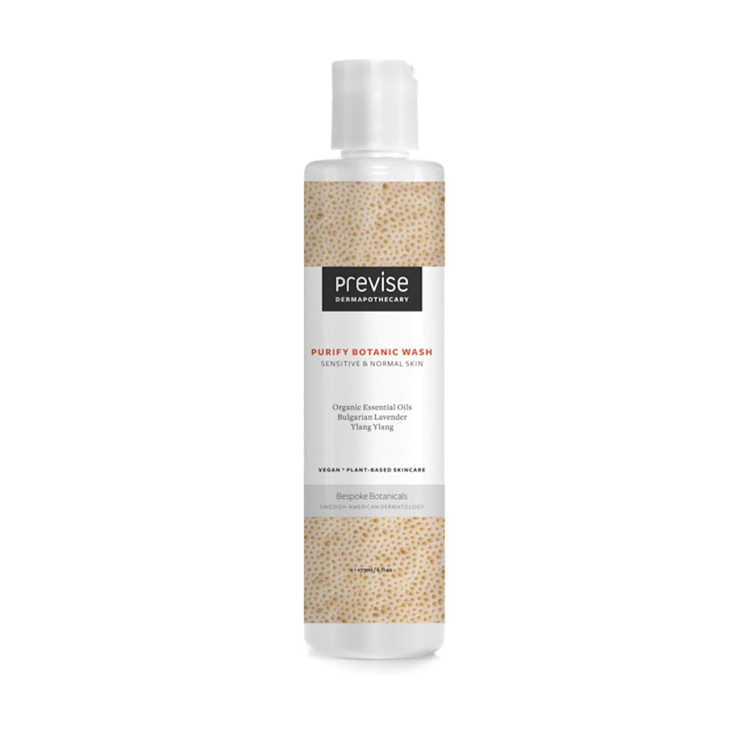 Purify Botanic Wash Sensitive & Normal Skin by Previse DermApothecary  Skincare