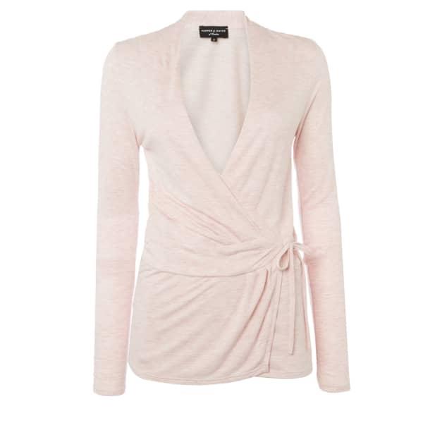 Pepper & Mayne Cowl Neck Ballet Wrap Middleton Pink