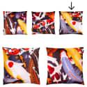 Koi II Style 3 Multicolour Velvet Cushion image