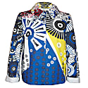 Floral Printed Denim Straight Jacket image