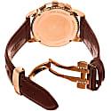 Bruno Magli Mens Dante 1002 Swiss Chronograph Quartz Italian Leather Strap Watch Burgundy image