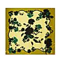 Medium Scarf In Gothic Floral Acid Ochre Print image