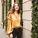 Isabelle Gold Silk Blouse image