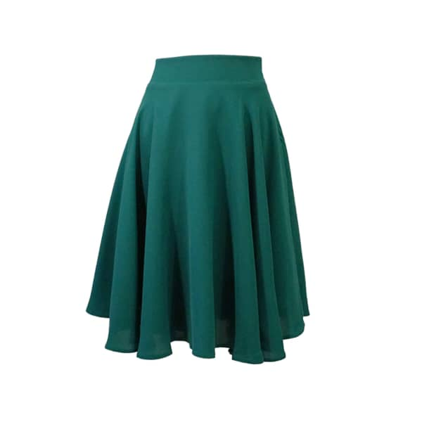 LAUREN LYNN LONDON The Louisa Skirt - Flared Knee Length Skirt - Emerald Green