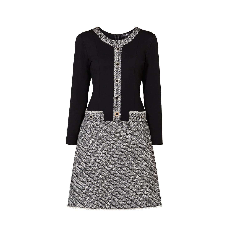 6f8893bb80 Beatrice Monochrome Tweed Dress image