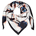 Xl Tie Dye Black Silk Dragonfly Scarf image