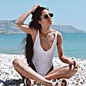 Copacabana - High Leg Reversible Swimsuit - Leopard/White image