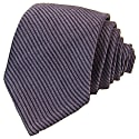 Blue Small Striped Washed Silk Tie image