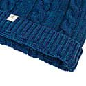 Petrol Blue Small Braided Wool & Cashmere Beanie image