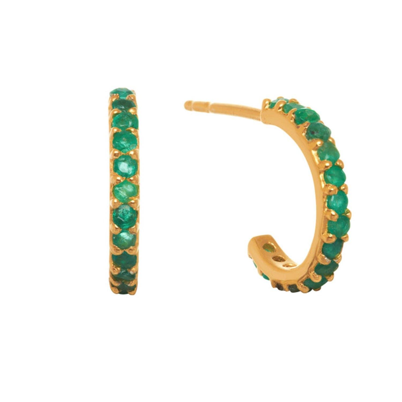 44177e1a1 Small Hoop Earrings Emerald | Lola Rose London | Wolf & Badger