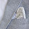 Signature Silk Pocket Square White image
