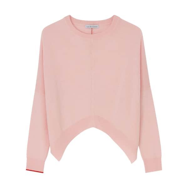 ILLE DE COCOS Merino Cropped Sweater Rose