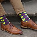 Neon Checkmate Men's Socks image