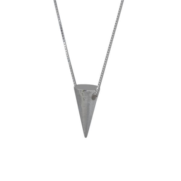 EDGE ONLY Men'S Large 3D Cone Pendant Silver