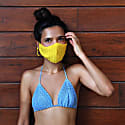 Crochet Face Mask in yellow image