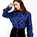 Kitty Blue Silk Blouse image