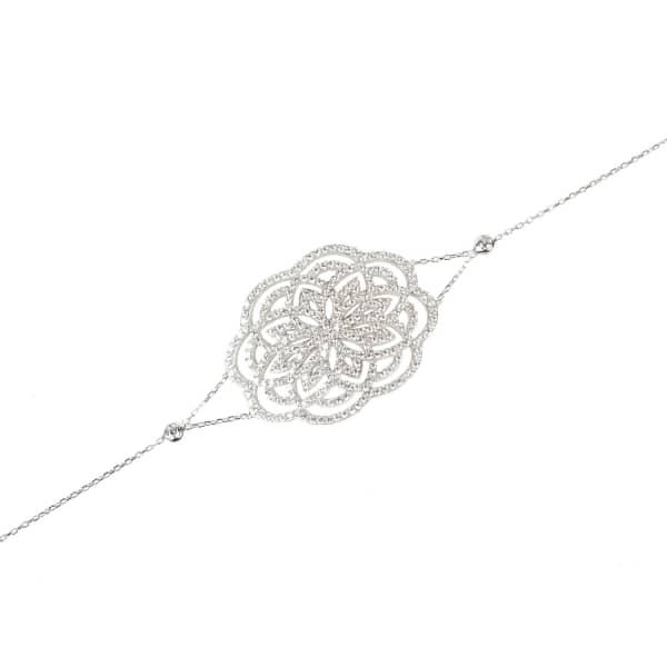 Lotus Bracelet Silver