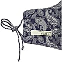 Pure Silk Grey Paisley Jacquard Matching Face Mask & Camisole Set image