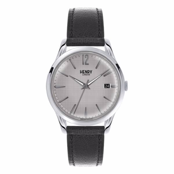 HENRY LONDON Unisex 39Mm Piccadilly Leather Strap Watch