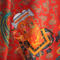 Gajraj Silk Scarf Red image