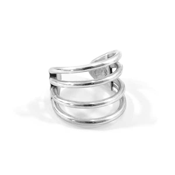 ANCHOR & CREW Bondi Surf Silver Ring