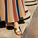 Boho Chic Maxi Skirt In Multi Colour Stripes Denîmes image