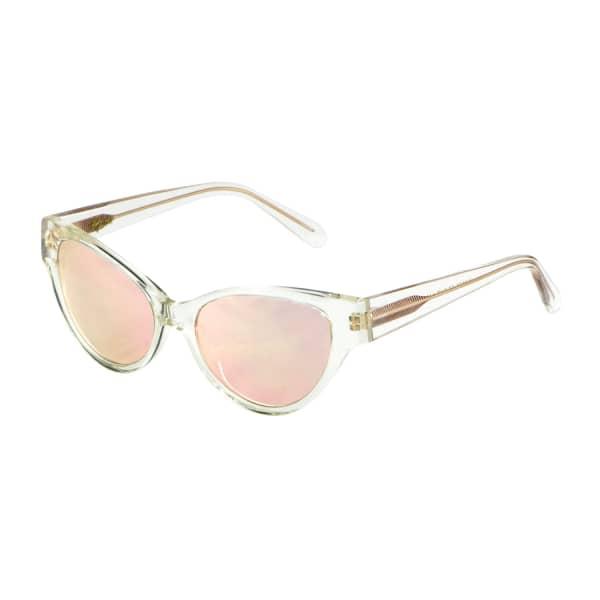 Rose Gold Mirrored Cateye Sunglasses