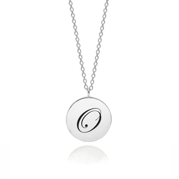 MYIA BONNER Sterling Silver Initial O Edwardian Pendant