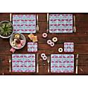 Flamingo Flourish Placemats Set Of Four image