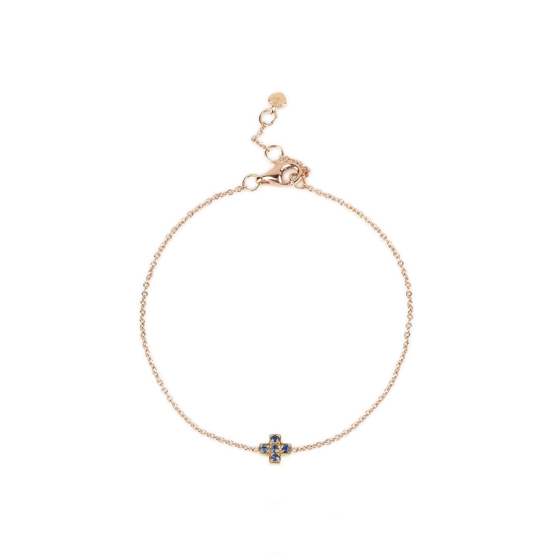 Mini Cross Bracelet Blue Sapphire image 7253d51ad